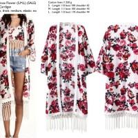 Rose Flower (S,M,L)  Kimono Cardigan-19893