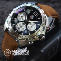 Jam Tangan Pria TAG Heuer Formula 1 INDY 500 Chronograph Leather