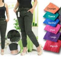 Jogger Pants Cotton Stretch, Celana Joger Katun Strit Wanita Women