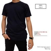 Best Quality Naga Clothing Baju Kaos Polos Biru Navy / Dongker 100%