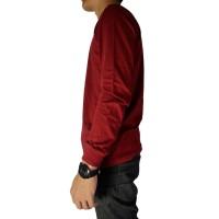 Best Quality Naga Clothing Baju Kaos Polos Merah Marun Lengan Panjang