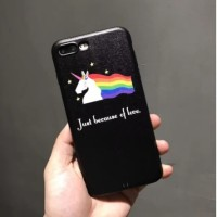 Case Handphone iPhone 5/5S/7 BLACK UNICORN CASE
