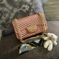 Tas Wanita Selempang Hits Handbag Fashion Semprem 22 Rosegold