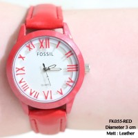 Jam tangan guess fossil kulit leather wanita fashion watch grosir mura