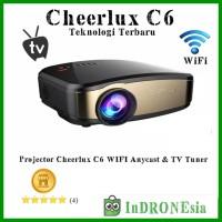 Projector Cheerlux C6 WIFI Anycast TV Tuner - Teknologi Terbaru