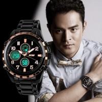 Jam Tangan SKMEI Analog Digital Pria AD1021 Gold