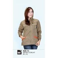 Jaket wanita/Sweater wanita/Jaket parka wanita Azzura 628-13 COKLAT