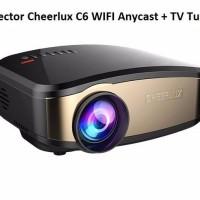 SALE Projector Cheerlux C6 WIFI Anycast TV Tuner Teknologi Terbaru