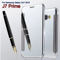 FLIP COVER MIrror Case SAMSUNG J7 PRIME ON7 metal casing with autolock