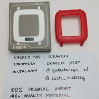 Bepple Hard Case Casing Cover Bezel for Pebble Time Smartwatch - Red