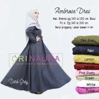 Murah Ambrose Maxi Dress Gamis Muslim Ori Naura Bestseller