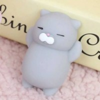 Jual squishy murah kucing ndut lucu grey putih orange mainan moni lazy cat Murah