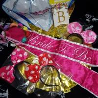 Jual paket bridal shower 3 squad, slempang bride to be/flower crown murah Murah