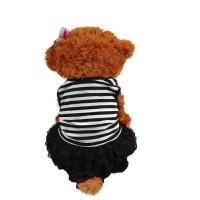 gaun anjing kucing kelinci strip baju dress rok cantik murah simple