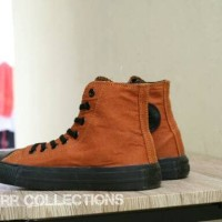 Sepatu Converse All Star Hi High Chuck Taylor Coklat Brown Grade Ori
