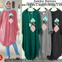 51464 jumbo devina/baju tunik/atasan muslim wanita/baju muslim murah