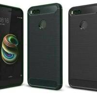 Jual Softcase Xiaomi Mi 5X Mi5X MiA1 Mi A1 Rubber Case Casing Cover Carbon Murah