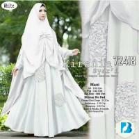 Gamis Wanita/Maxi/Busana Muslim/Hijab/Gamis Syari Kirania White