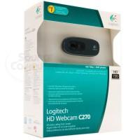Webcam C270 HD Logitech / PC / Laptop / 720p Video Calls / Streaming