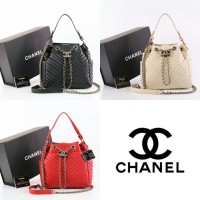 Tas Chanel Drawstring Chevron Small Semprem Box 91273 aa93e13140