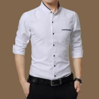Jual baju koko kantun stretch putih Murah