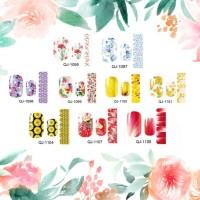 Flower nail sticker / sticker kuku / nail art bunga / flower nail