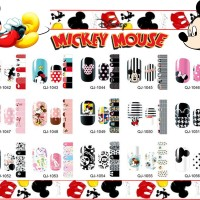 Mickey & Doraemon Nail sticker / Disney Nail sticker / Sticker kuku