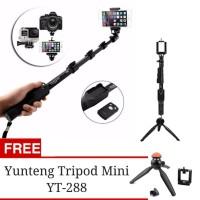 Promo Paket Selfie Tongsis Bluetooth Yunteng YT-1288 + Tripod YT-228