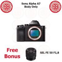 Kamera Sony Alpha 7 + SEL 50mm F1,8 ; Mirrorless ILCE-7 ; Alpha A7 BO