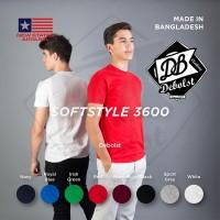 Jual Kaos polos NSA SOFT (New states apparel) WHITE mirip gildan softstyle Murah