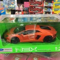nex welly 1:24 lamborghini aventador lp700-4 orange dan kuning