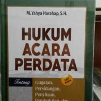 Buku Hukum Acara Perdata Tentang Gugatan,Persidangan, Yahya Harahap