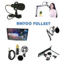 BM700+Stand Mic Fullset - Profesional Microphone Home Recording Studio