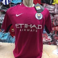 Cuci Gudang Jersey Manchester City Away 2017/2018 grade ori official