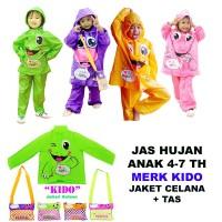 Jas Hujan Anak Kido / Jas hujan anak TK SD Setelan Baju Celana