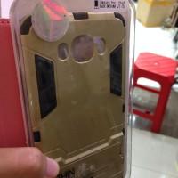 Hardcover Case Samsung Galaxy J710 Gold Hitam Silver