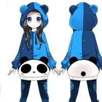 Jual HP41494 Blue Panda Sweater jacket jaket hoodie jepang korea cosplay Murah