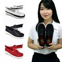 sepatu wanita juara pump leather loafer premium