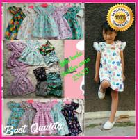 Baju Dress Anak Perempuan Cewek Motif Lucu Branded Model ANNA
