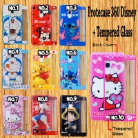 Protecase 360 Gambar Disney + Tempered Glass for Samsung/iPhone/Xiaomi