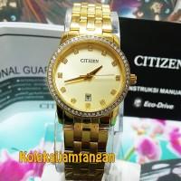 JAM TANGAN WANITA CITIZEN EU6032-51P GOLD ORIGINAL MURAH
