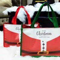 HAND BAG TOTE NATAL Tas Souvenir Goodie GoodyBag Christmas Hamper Unik