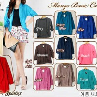 CARDIGAN SPANDEK BATWING KALONG HITAM LENGAN MIDI OVAL SIMPLE