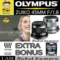 OLYMPUS LENS 45MM F1.8 / OLYMPUS M.ZUIKO 45MM F1.8 /LENSA OLYMPUS 45MM