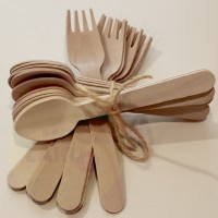 sendok kayu garpu kayu wooden cutlery wooden spoon wooden fork