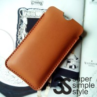 Leather Case Pouch Axioo Venge 2 Sleeve HP 5,5 Inch