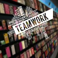 Stiker Team Work Quotes Dinding Kaca Rumah Kantor Wall Sticker Cafe - Putih