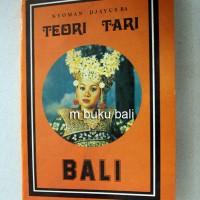 Teori Tari Bali - buku bali