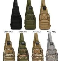 Jual Tas selempang army military tactical shoulder waist bag slempang pria Murah