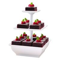 Rak kue 3 tingkat snack server stand - READY STOCK
